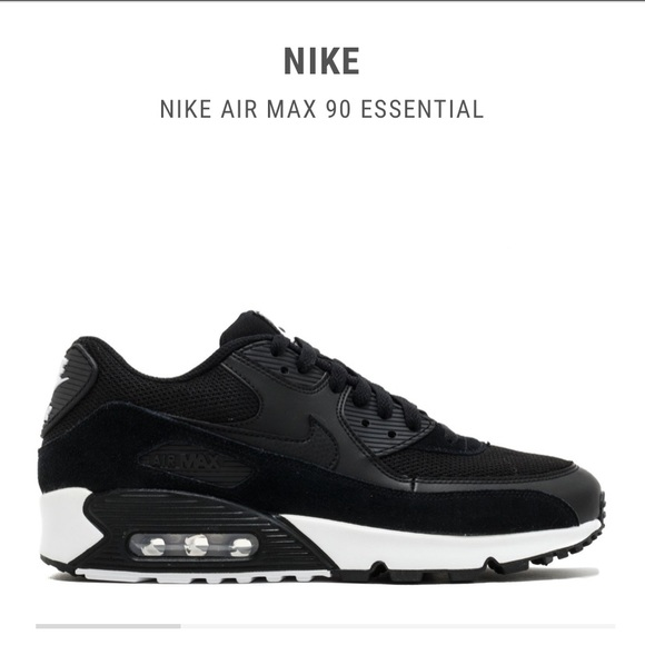 Black and White Nike Air Max 90's